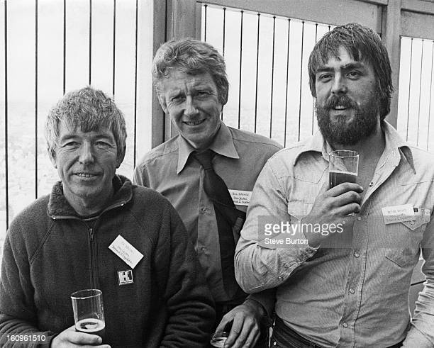 Mountaineers Joe Brown, Bill Baker and Pete Minks at the Post Office Tower, London, 9th August 1979. Along with fourth team member Mo Anthoine, they...