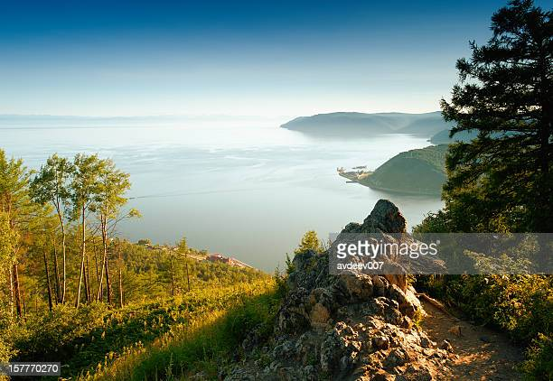 Mountainous inlet landscape on a summer day