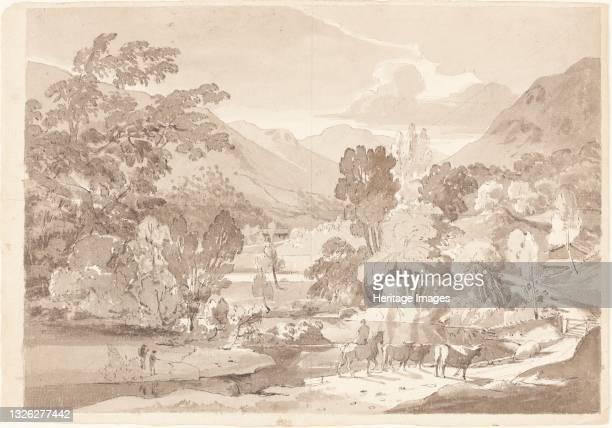 Mountainous Landscape, first half 19th century. Artist Unknown.