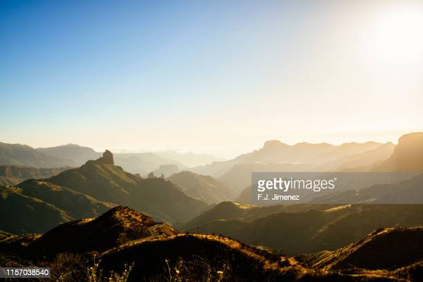 mountainous landscape  gran canaria, canary islands. - unesco stock pictures, royalty-free photos & images