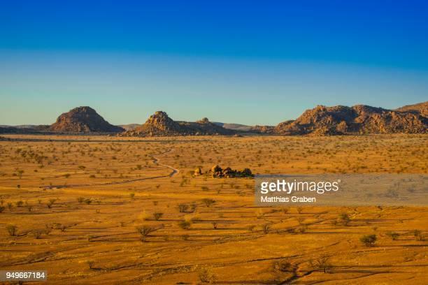 Mountainous landscape near Twyfelfontein, Kunene region, Namibia