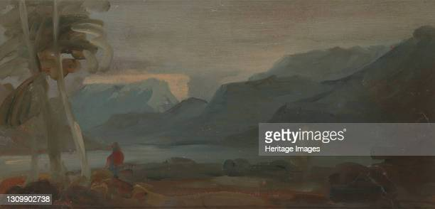 Mountainous Landscape with Figures and Cattle;Rocky Landscape with Figures and Cattle Resting, 1806 to 1807. Formerly attributed to Joseph Mallord...