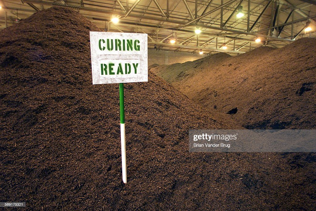 Mountainous piles of compost await distribution at the Las Virgenes Municipal Water District's Ranch : News Photo