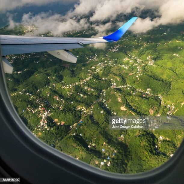 mountainous terrain on martinique - martinique stock photos and pictures