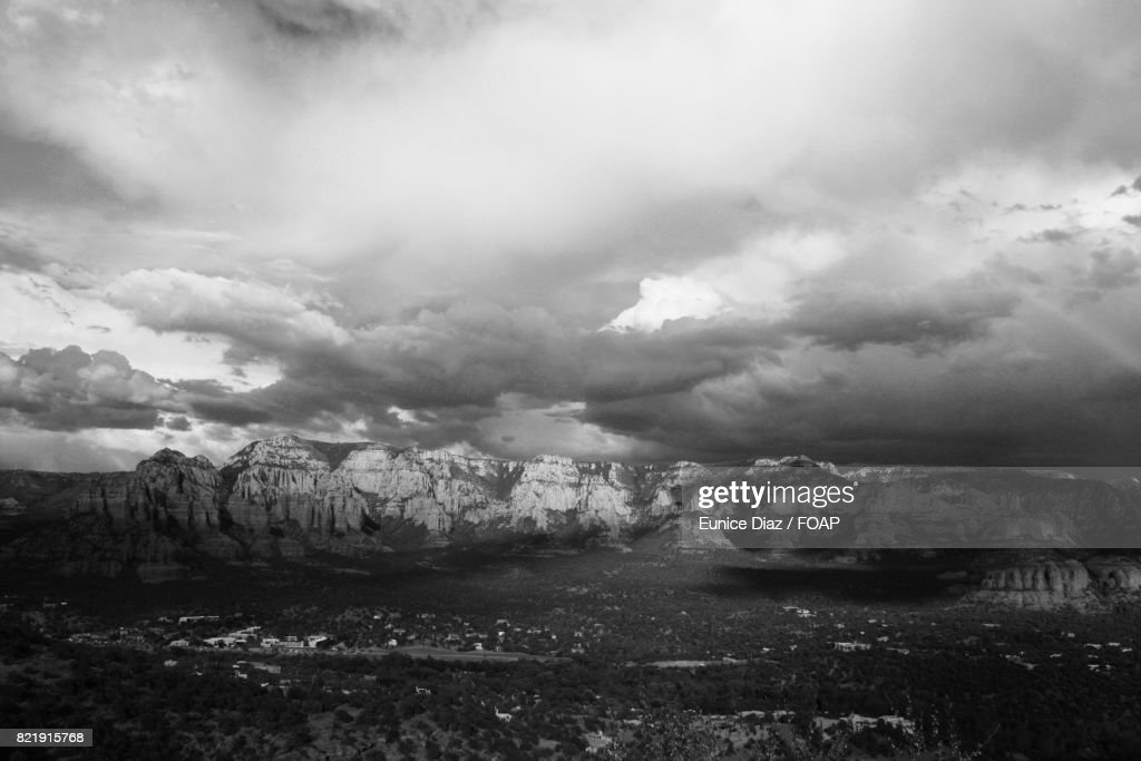 Mountains against storm clouds : Stock Photo