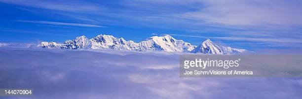 Mountains and glaciers in WrangellSt Elias National Park Alaska