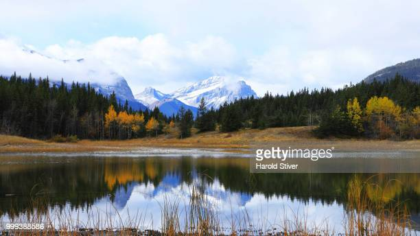 Mountains and Lake at Bowman Valley Provincial Park, Canada