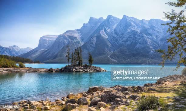 Mountains and Peninsula at Lake Minnewanka