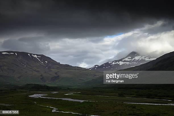 Mountains and Stream near Hvalfjörður
