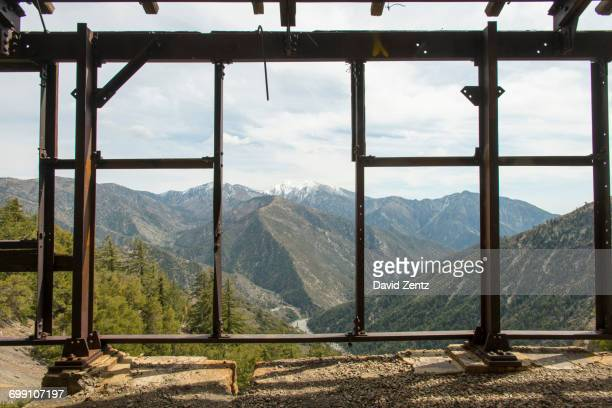 Mountains are seen from an abandoned mine in Southern California.