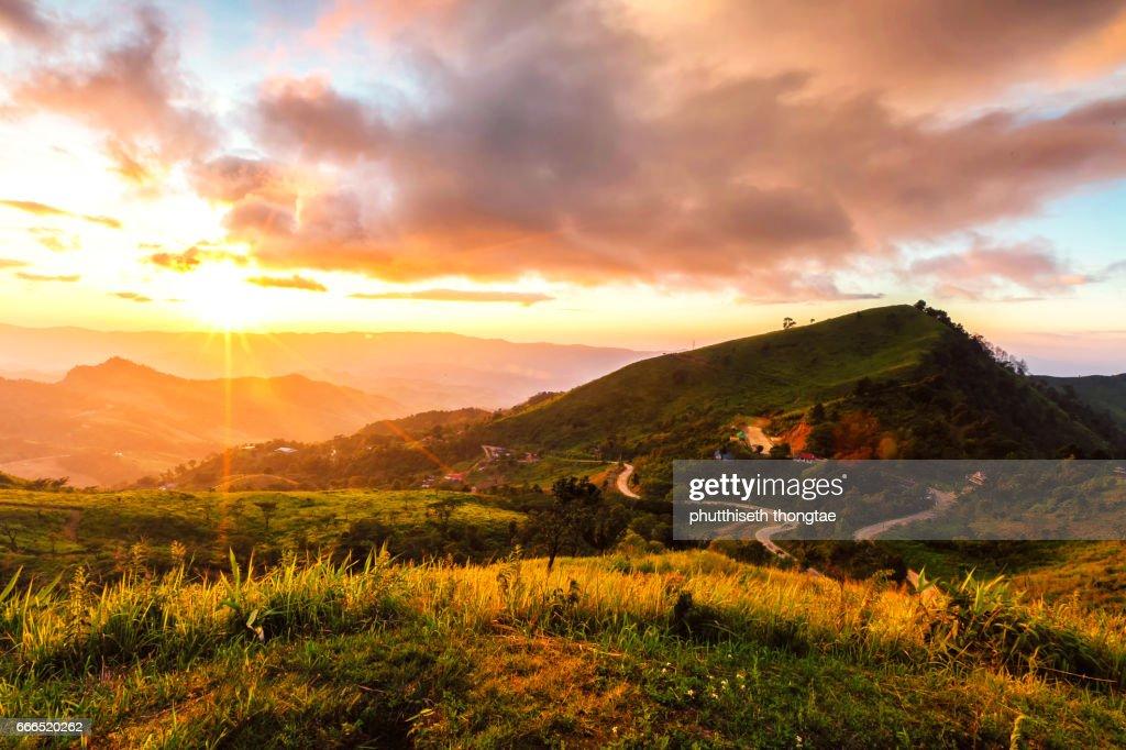 Mountains at sunset : Stock-Foto
