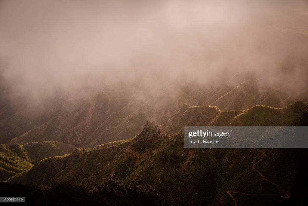 Mountains hiding : Stock-Foto