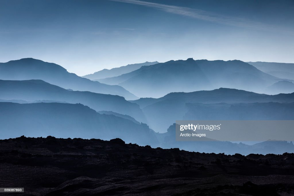 Mountains in Central Highlands, Iceland : Stock Photo