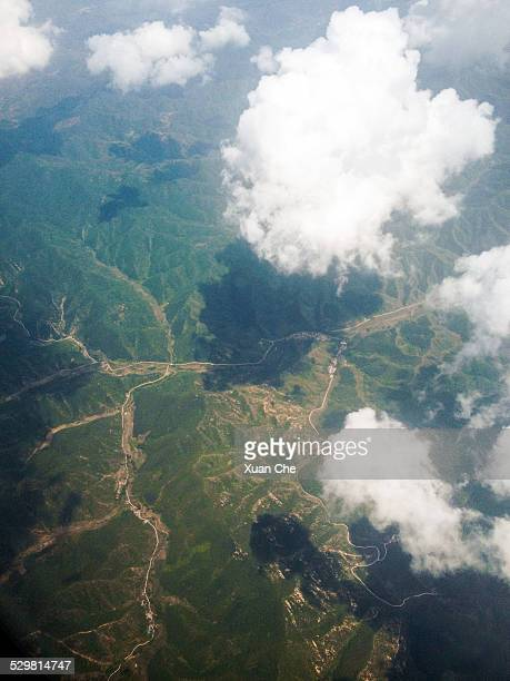 mountains in china - xuan che stock pictures, royalty-free photos & images