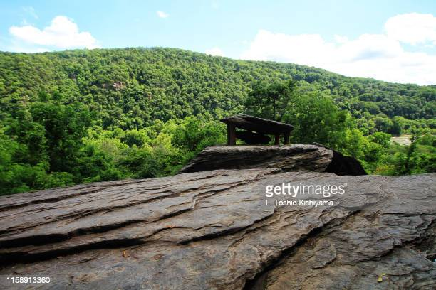 mountains in harpers ferry, west virginia - protohistory_of_west_virginia stock pictures, royalty-free photos & images