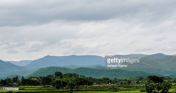 Mountains in monsoon