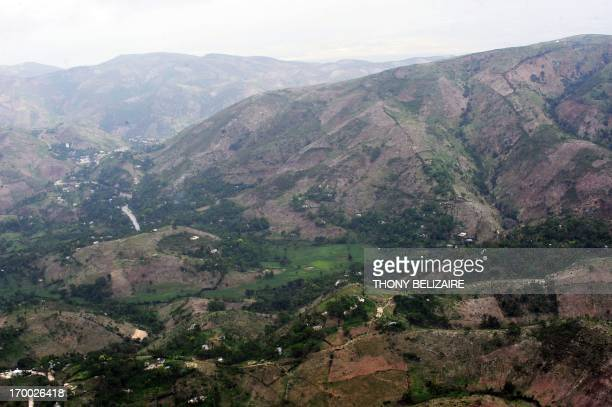 Mountains in northern Haiti are seen deforested on June 5 2013 Haiti has significant deforestation with just 2 percent of its forest remaining Haiti...