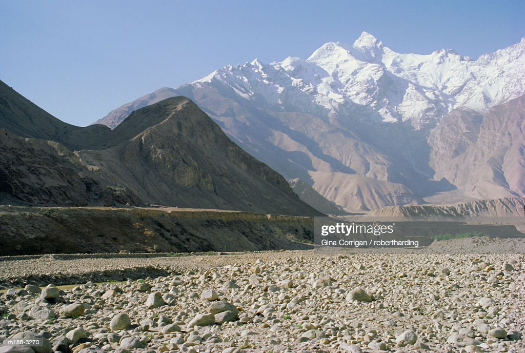 Mountains in the area of the Karakoram Highway, China : Stockfoto