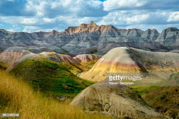 mountains in the badlands national park, south dakota, usa - south dakota stock photos and pictures