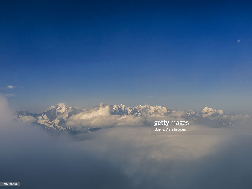 Mountains in the clouds : Stock Photo