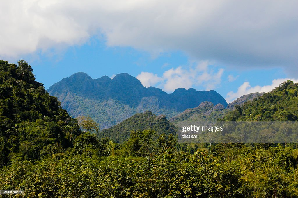 Mountains in Vang Vieng : Stock Photo