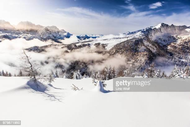 Mountains in winter, Madonna di Campiglio, Trentino, Italy