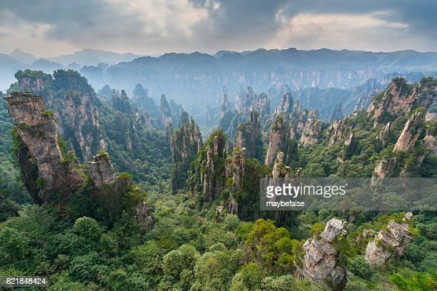 Mountains in Zhangjiajie national park