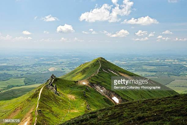 mountains landscape - auvergne stock pictures, royalty-free photos & images
