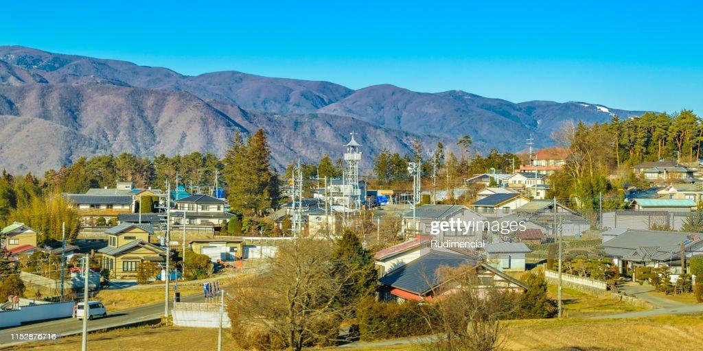 Mountains Landscape Scene, Japan : Stock Photo