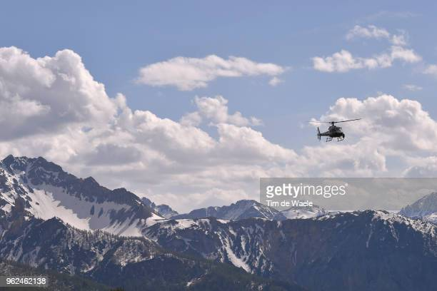 Mountains / Landscape / Snow / Helicopter / during the 101st Tour of Italy 2018 Stage 19 a 185km stage from Venaria Reale to Bardonecchia Jafferau...