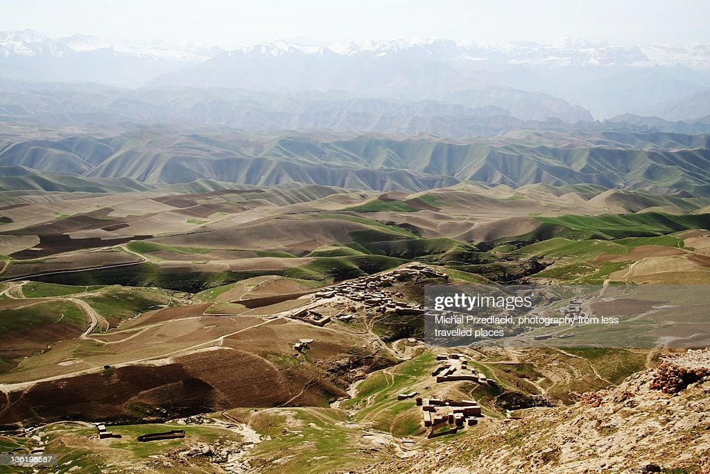 Mountains men village, Afghanistan : Stock Photo