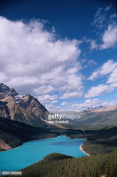 mountains near payto lake - sirulnikoff stock pictures, royalty-free photos & images