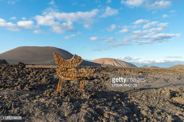 mountains of fire timanfaya lanzarote - atlantic islands stock pictures, royalty-free photos & images