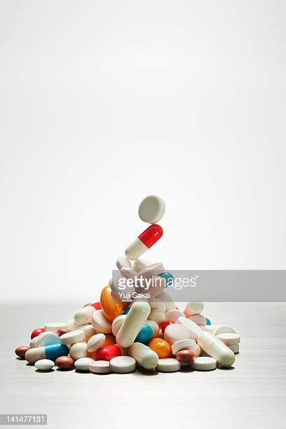 mountains  of pills