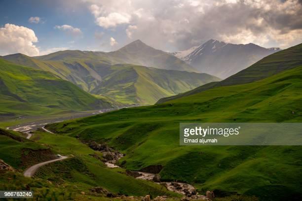 mountains of quba rayon, azerbaijan - アゼルバイジャン ストックフォトと画像