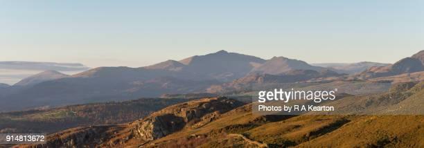 Mountains of Snowdonia on an autumn evening
