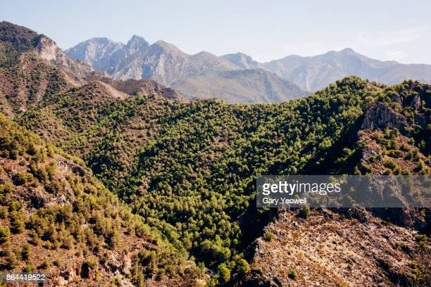 mountains of the sierra de almijara, malaga - yeowell stock pictures, royalty-free photos & images