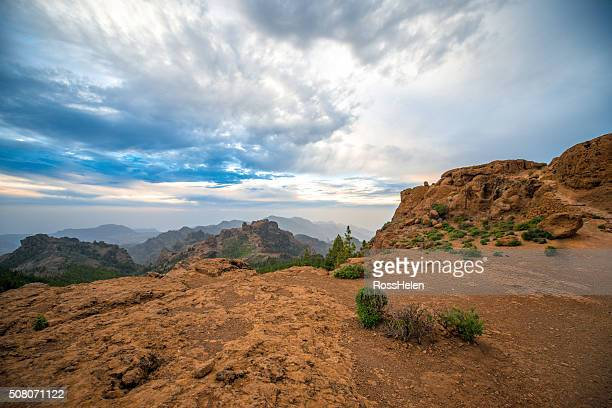 mountains on gran canaria island - tejeda canary islands stock pictures, royalty-free photos & images