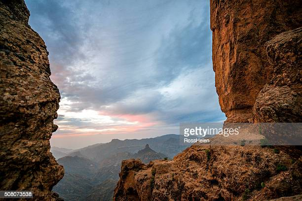 mountains on gran canaria island - tejeda stock pictures, royalty-free photos & images