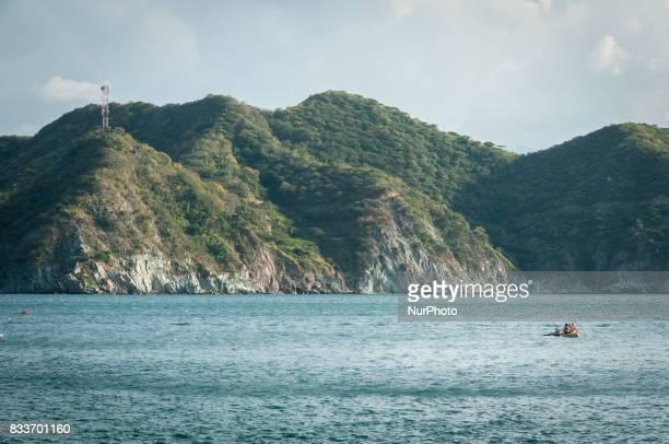 Mountains on the Caribbean shoreline near Taganga Colombia Photo taken 4 January 2012