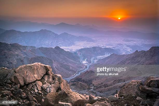 mountains - saudi stock pictures, royalty-free photos & images