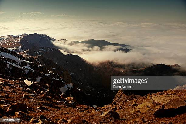 mountains under the clouds - dana barron stock photos and pictures