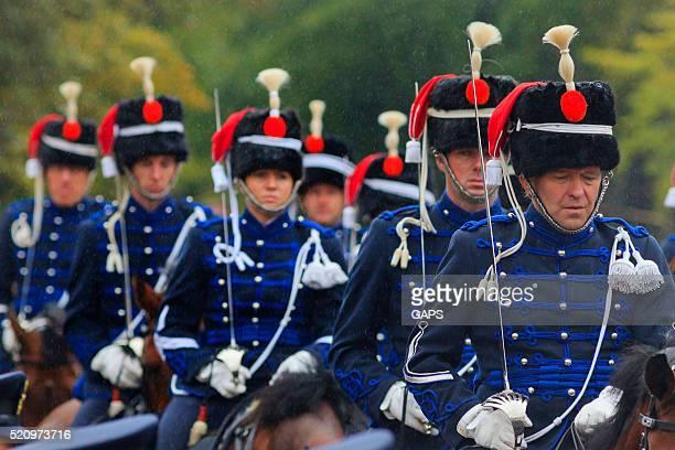 mounted brigade on Lange Voorhout during Prinsjesdag in The Hague