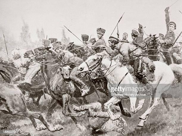 Mounted Combat Between Russian Cossacks And German Cavalry Known As The Hussars Of Death En Schwansfeld Between Korschen And Bartenstein Eastern...
