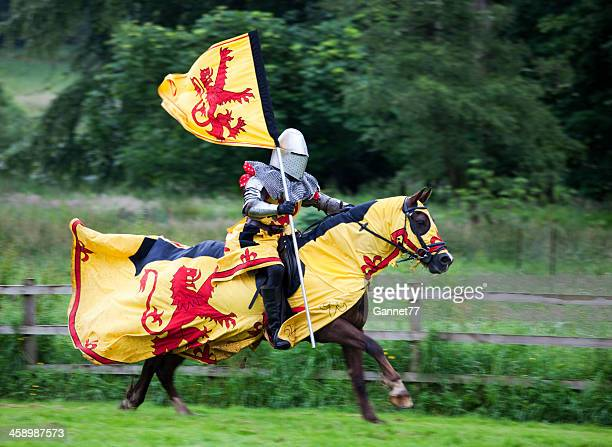 Mounted Knight carrying the Royal Standard of Scotland