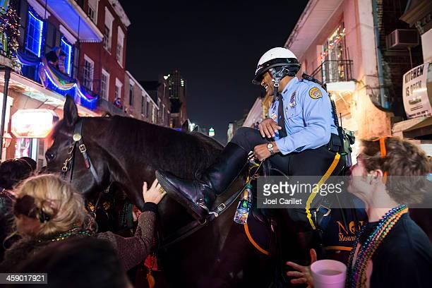 new orleans mounted police at mardi gras - gras bildbanksfoton och bilder
