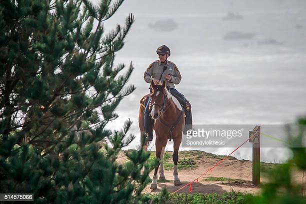 Mounted police at Half moon bay, California