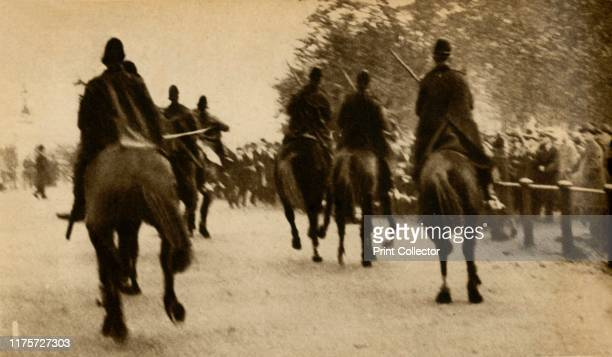 Mounted police batoncharging marchers Means Test protests Hyde Park London The National Hunger March of September to October 1932 was the largest of...