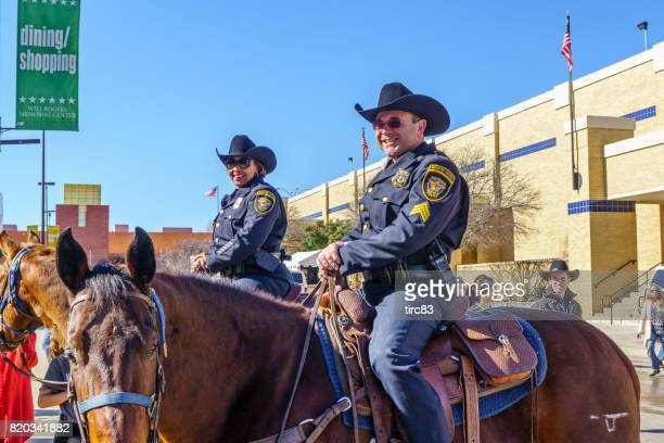 Mounted police officers on duty in Fort Worth Texas