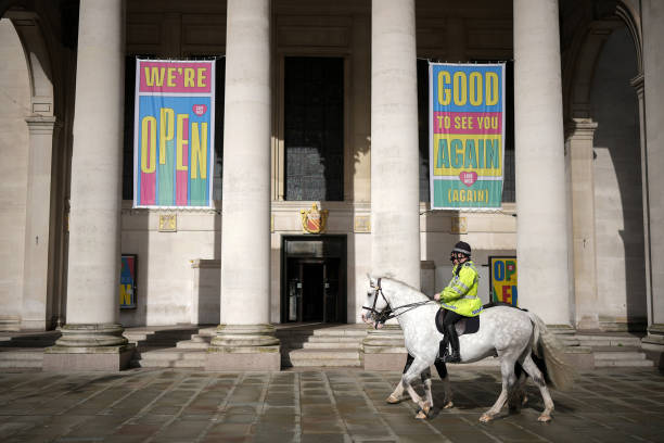 GBR: Manchester Prepares For The 2021 Conservative Party Conference